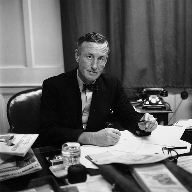 Ian Fleming, British author and creator of James Bond,...