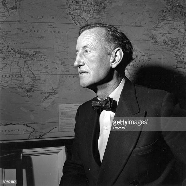 Ian Lancaster Fleming British author and creator of the character James Bond in his study