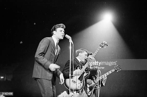 English rock 'n' roll singer Marty Wilde on stage at the Record Star Show