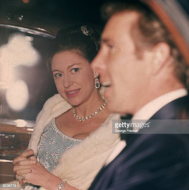Princess Margaret arriving at Fishmonger's Hall with her husband Antony ArmstrongJones Lord Snowdon