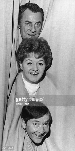 Stars of the new BBC radio series 'Stop Messing About' from top to bottom Hugh Paddick Joan Sims and Kenneth Williams