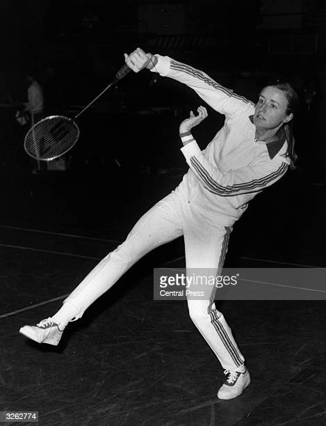 British badminton champion Gillian Gilks at the All England Badminton Championships