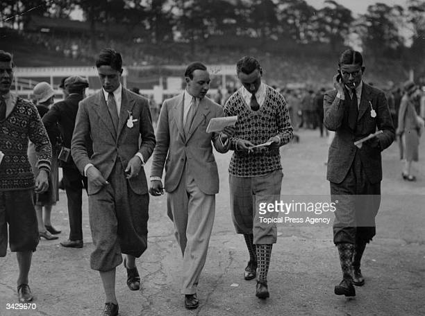 A dapper group of young gentlemen at the races