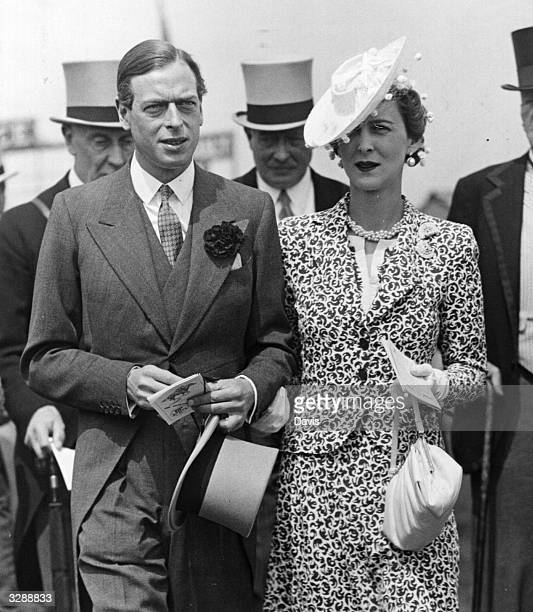 The Duke of Kent younger son of King George V and Queen Mary brother of the Duke of Windsor and King George VI at Epsom races for the Derby stakes He...