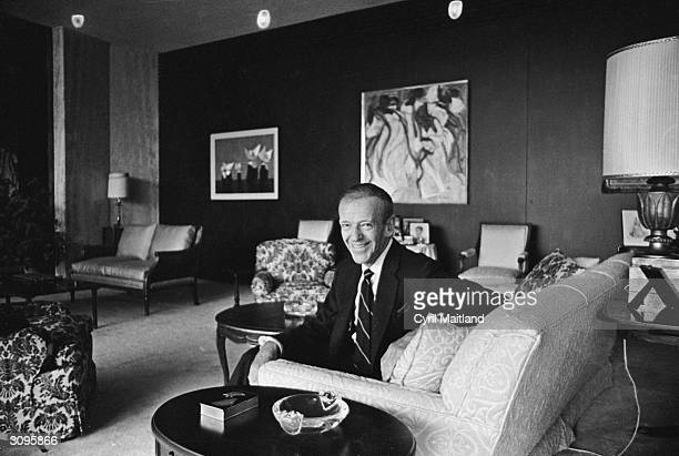 American actor singer and dancer Fred Astaire at his house in Beverly Hills