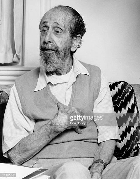 Portrait of the sculptor Jose de Creeft at his home in Chelsea New York