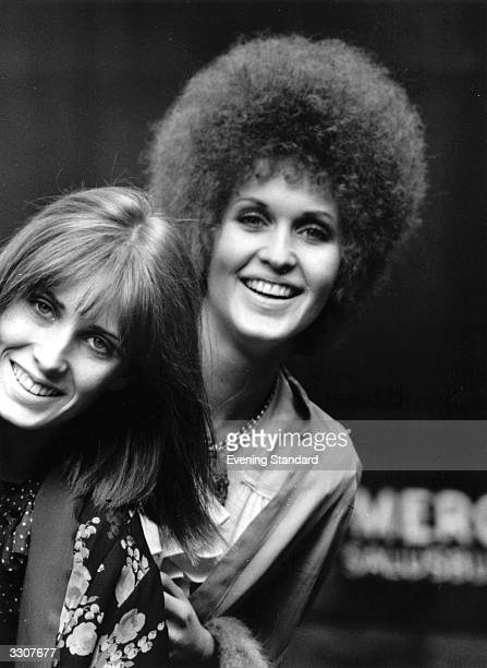 British pop singer Julie Driscoll right and her sister Angie