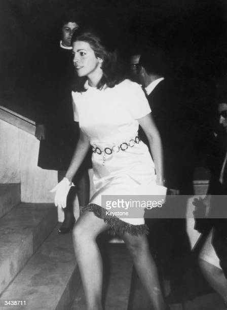 Christina Onassis , daughter of Greek shipping tycoon Aristotle Onassis, at the wedding of a friend in Athens.