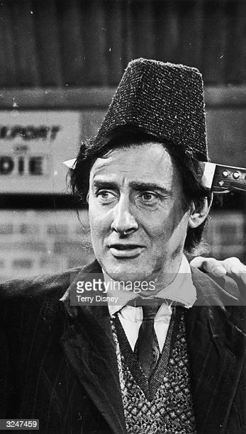 Spike Milligan in ITV's comedy series 'Curry And Chips'. He plays Kevin O'Grady, one of the workers at Lillicrap Ltd, makers of seaside novelties.