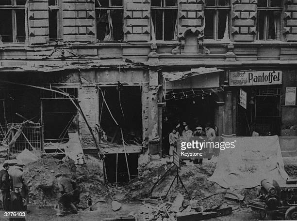 Bomb damage in the industrial heart of Berlin