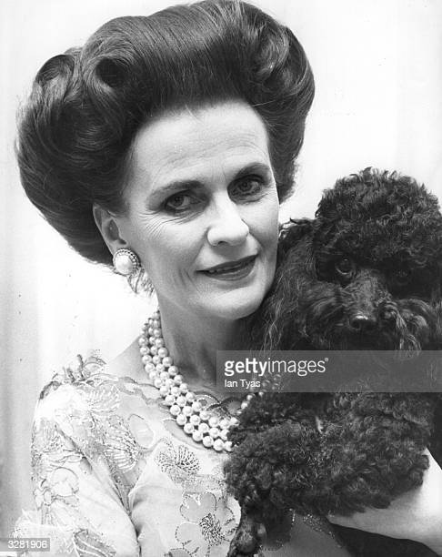 Margaret Campbell Duchess of Argyll with her poodle