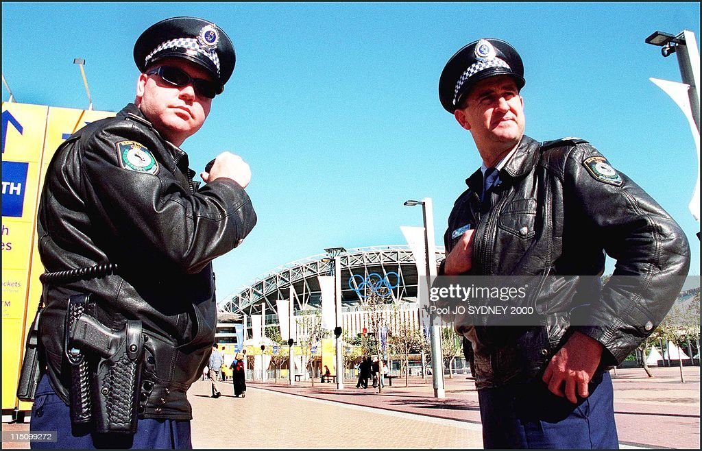 24Th Olympics, Security At Olympic Facilities In Sydney, Australia On September 13, 2000. : News Photo