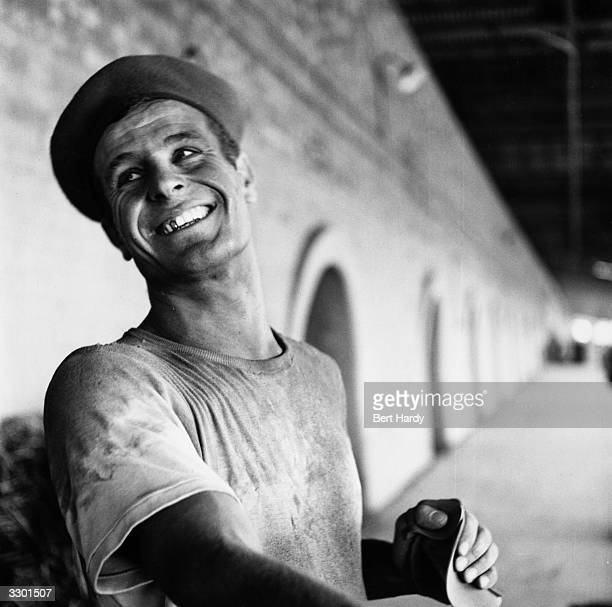 An Italian immigrant working in the Bedfordshire brickfields Original Publication Picture Post 8001 Plight Of A New Little Italy pub 1955