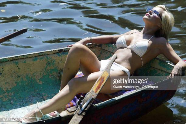 24yearold Helen Benoist from Newcastle enjoys the sunshine whilst boating at Exhibition Park in Newcastle The heatwave continues throughout the...