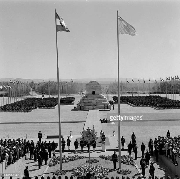 ceremony organized by the Shah d 'Iran in Persepolis