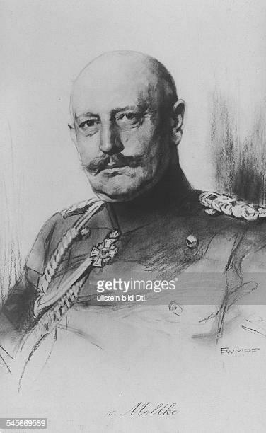 *25051848deutscher General19061914 Chef des GeneralstabesPortrait undatierte Zeichnung