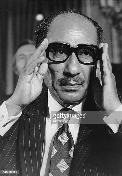 *Politiker ÄgyptenStaatspräsident 197081 Porträt 1979
