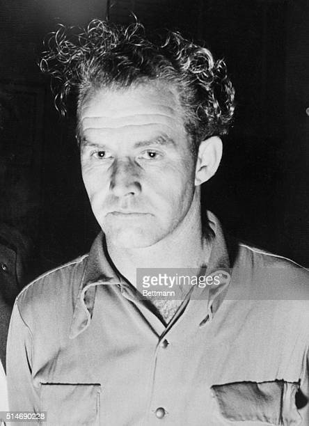Los Angeles, CA: After surrendering to police at Fourth and Hill Streets last night, Daniel S. Voorhees, shown, wrote a one sentence confession that...