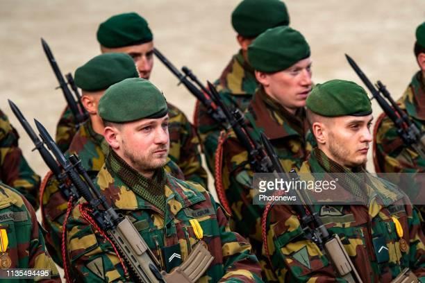 25e anniversaire de la cérémonie d'hommage aux soldats belges morts en opération depuis 1945 en présence du Roi 25ste verjaardag van de...