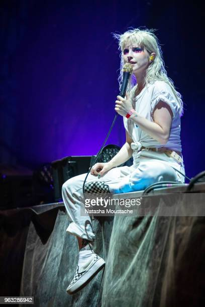 Hayley Williams of Paramore performs onstage at Harvard Athletic Complex on May 25 2018 in Boston Massachusetts