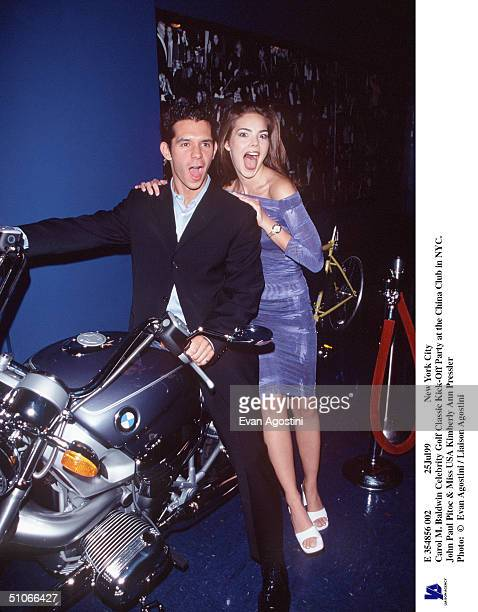 E 354856 002 25Jul99 New York City Carol M Baldwin Celebrity Golf Classic KickOff Party At The China Club In Nyc John Paul Pitoc Miss Usa Kimberly...