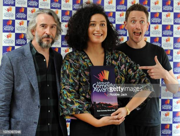 Steve Coogan winner of the award in 1992 and John Robins joint winner in 2017 presented the award to this years winner of The Edinburgh Comedy Awards...