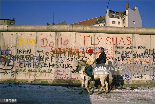 25th anniversary of the construction of the Berlin Wall in Berlin, Germany In April, 1986-On the night of August 12 1961, the first bricks of the...