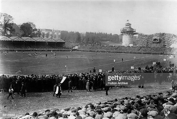 A general view of the 1914 FA Cup final in progress between Burnley and Liverpool at Crystal Palace Burnley won 10