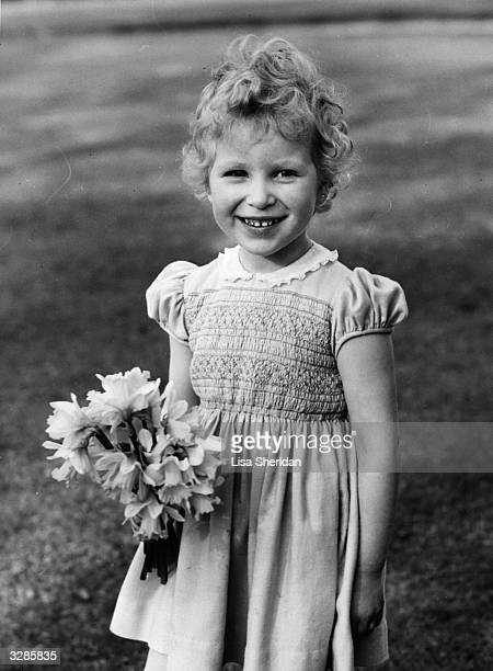 Anne Elizabeth Alice Louise the Princess Royal in the garden of the Royal Lodge Windsor