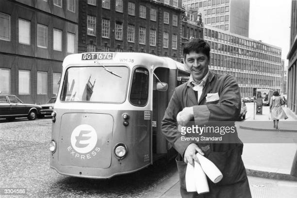 Express milkman Peter Hunt on his rounds