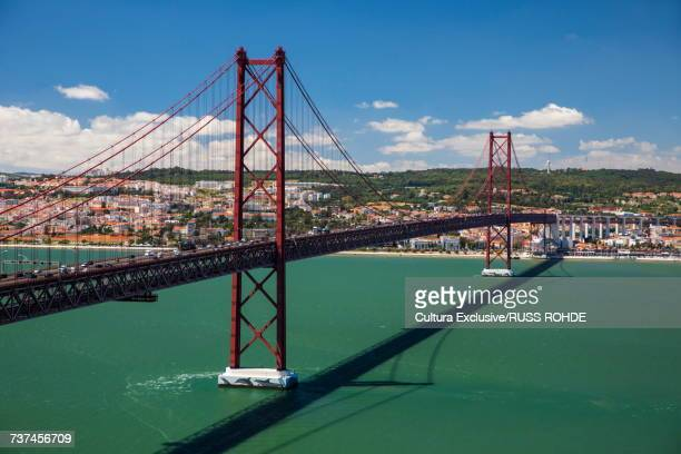 25th April bridge across river Tagus, Lisbon, Portugal