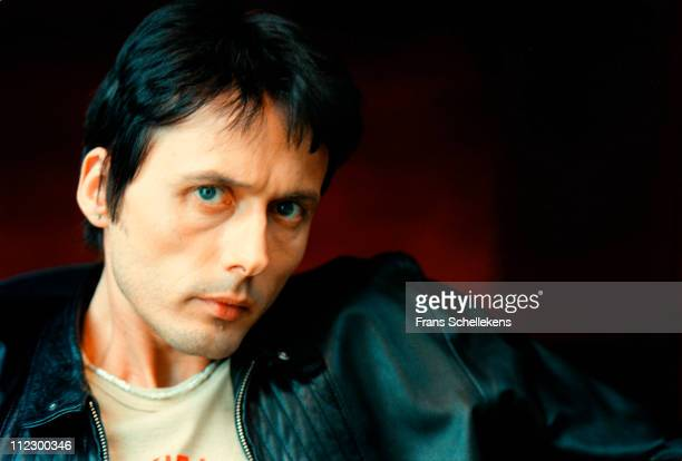 25th APRIL: Singer Brett Anderson from Suede posed at Schiphol near Amsterdam, Netherlands on 25th April 1999.