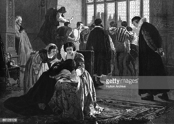 Grieving Huguenots seek to comfort the bereaved during the St Bartholomew's Day Massacre in France, in which Catholic mobs slaughtered thousands of...