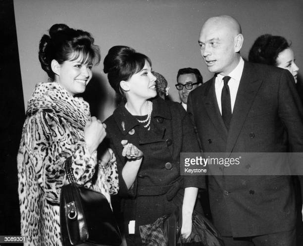 Film stars, Claudia Cardinale, Leslie Caron and Yul Brynner at a rehearsal for the Royal Film Performance of West Side Story in the West End, London....