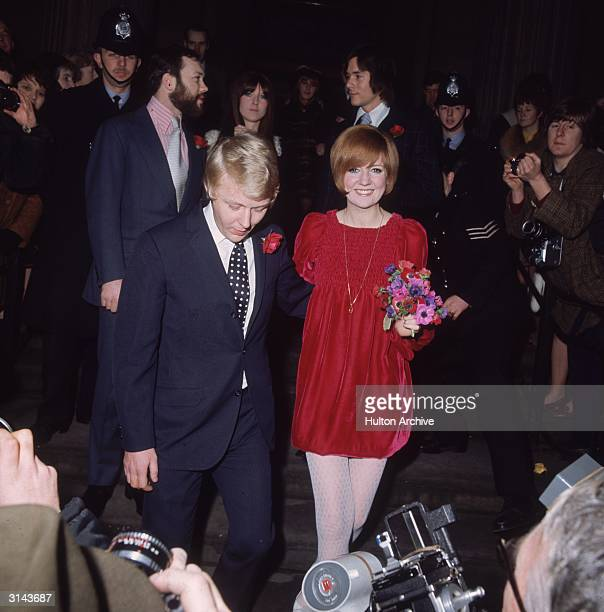 Pop star and TV show hostess Cilla Black at her wedding at Marylebone Registry office London to her manager Bobby Willis There was a second religious...