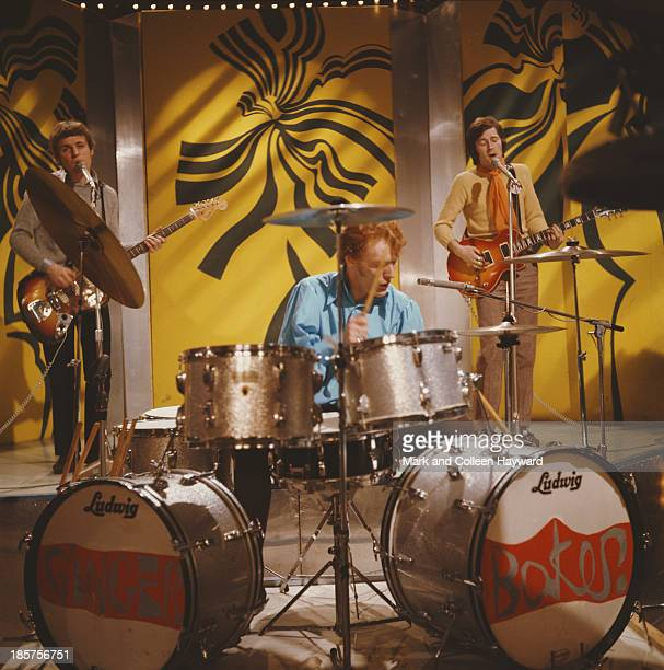 25th JANUARY: British rock group Cream perform the song 'I Feel Free' on BBCTV show 'Top Of The Pops' in London on 25th January 1967. Left to right:...