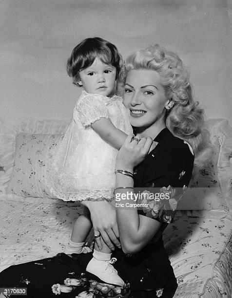 Hollywood actress Lana Turner with her daughter Cheryl Crane