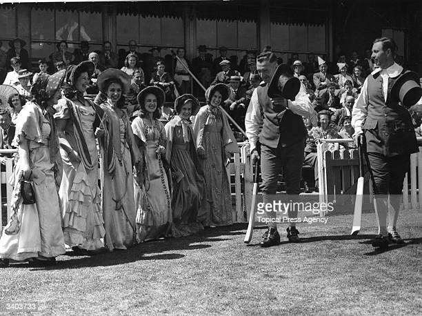 Cricket match in Regency costume at the Sussex County Cricket Ground