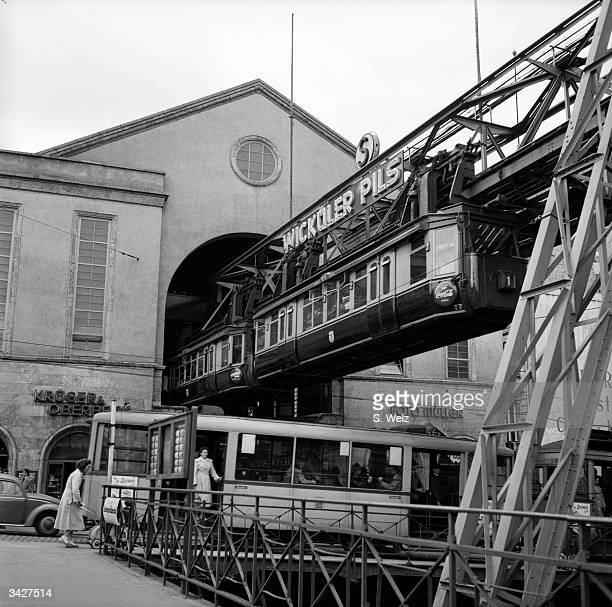 The 13.3 kilometre Wuppertal hanging streetcar system in West Germany, which claims to have transported nearly 1 000,000 passengers since 1901...