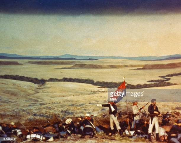 General George Armstrong Custer and the men of the US 7th Cavalry take their disastrous final stand against the Sioux and Cheyenne at the Battle of...