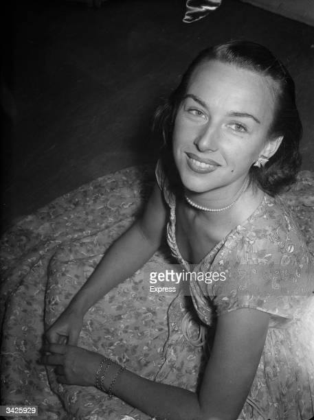 Australian tennis player Gertrude Moran known as Gorgeous Gussie at a dance in Chelsea