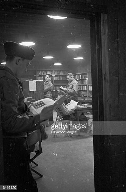 The library at the Derry military base in Northern Ireland where US marines have been stationed during the Second World War Original Publication...