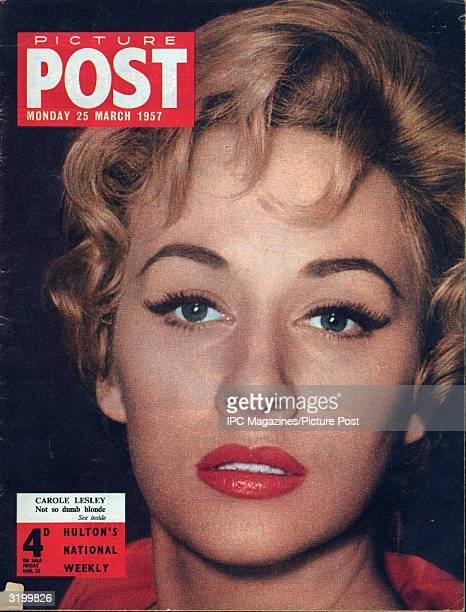British actress Carole Lesley star of 'These Dangerous Years' appears on the cover of Picture Post magazine Original Publication Picture Post Cover...