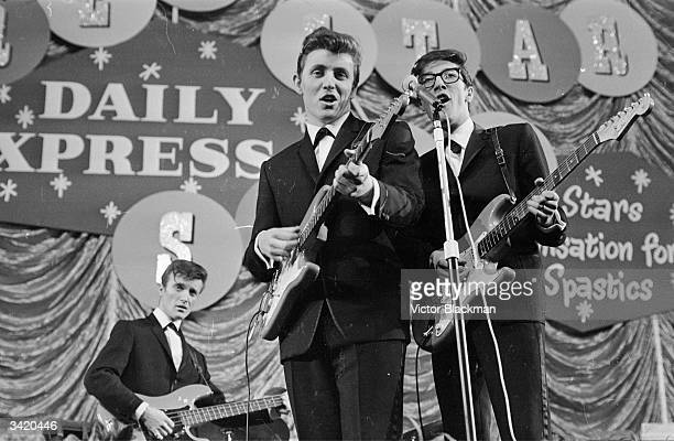 British pop group The Shadows performing on the Daily Express Record Star Show.