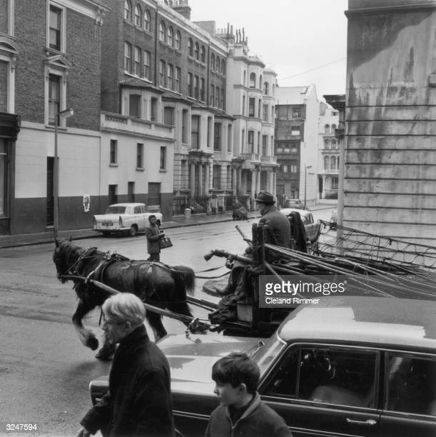 Horse and cart in London's Notting Hill area.