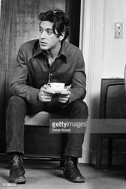 American actor Al Pacino in London After making his name in 'The Godfather' and 'Serpico' he was finally awarded a Best Actor Oscar for his role in...