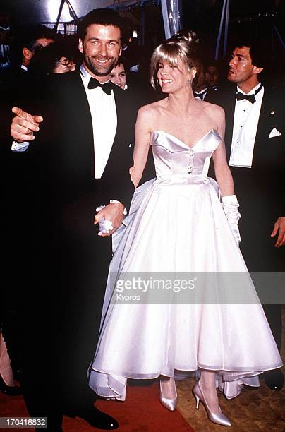 Actor Alec Baldwin and actress Kim Basinger in Los Angeles for the 63rd Annual Academy Awards