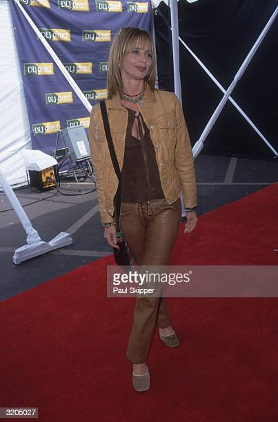 Fulllength image of American actor Rosanna Arquette arriving on the red carpet at the Independent Feature Project/West Independent Spirit Awards...
