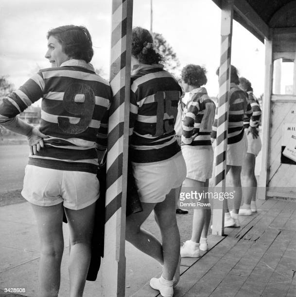 The Belles of St Mary's a female rugby team from the town of St Mary's in New South Wales gather outside the changing rooms before a match against...