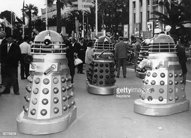 Twelve Daleks arrived in Cannes from Shepperton Studios England for the showing of the new 'Dr Who' movie which features at the Film Festival